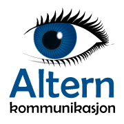Logo Altern kommunikasjon
