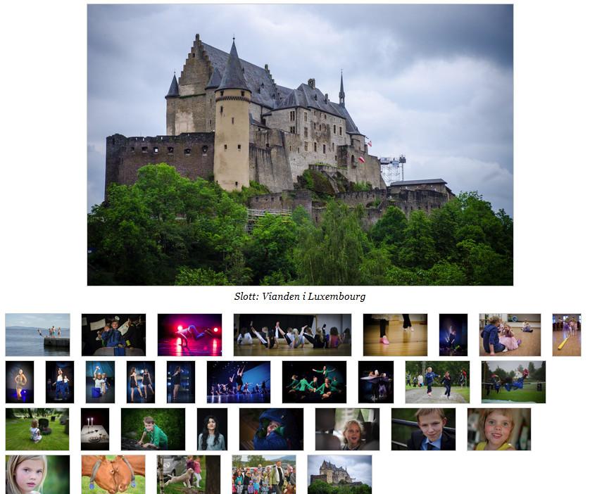 Et enkelt fotoalbum på en nettside.