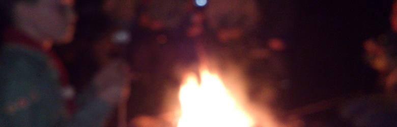 Bilde av leirbålet