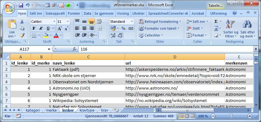Excel-fil